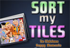 Sort My Tiles The Flintstones Happy Moments