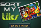 Sort My Tiles Tom and Jerry Ride