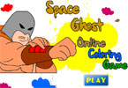 Space Ghost Onlnie Coloring Game
