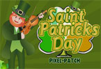 St Patricks dag - pixel patch