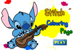 Stitch Colouring Page
