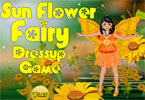 Sunflower Fairy Dress Up Game