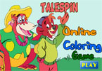 Talespin Online Coloring Game