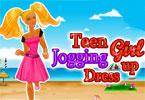 tiener meisje joggen dress up