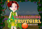 Thanksgiving Fruit Girl Dressup