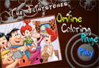 The Flintstones online kleurplaat