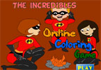 The Incredibles Online Coloring Game