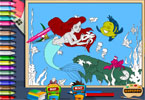 The Little Mermaid Online Coloring Page