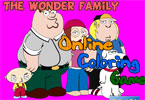 The Wonder Family Online Coloring Game