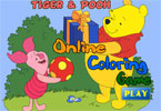 Piglet and Pooh Online Coloring Game