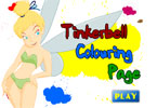 Tinkerbell Colouring Page