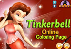tinkerbell - pgina para colorear en lnea