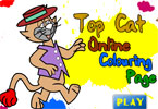 Top Cat Online Coloring Page