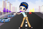 Traffic Girl Dressup