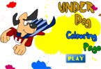 Under Dog Colorazione Pagina