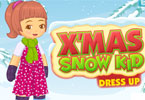 x-mas sneeuw jongen dress up
