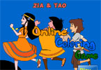 Zia and Tao Online Coloring Game