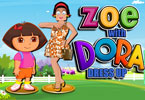 Zoe with Dora Dress Up
