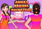 Play Anna Braided Hairstyles Game